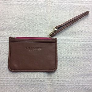 Coach | Brown and Pink Wristlet